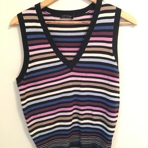 Limited striped sweater vest